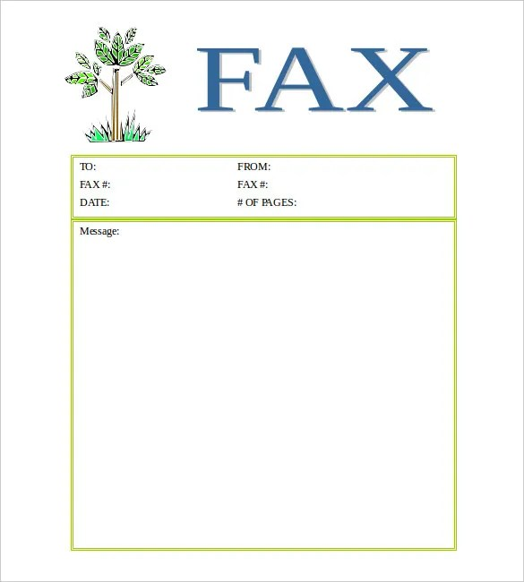 12+ Free Fax Cover Sheet Templates \u2013 Free Sample, Example Format