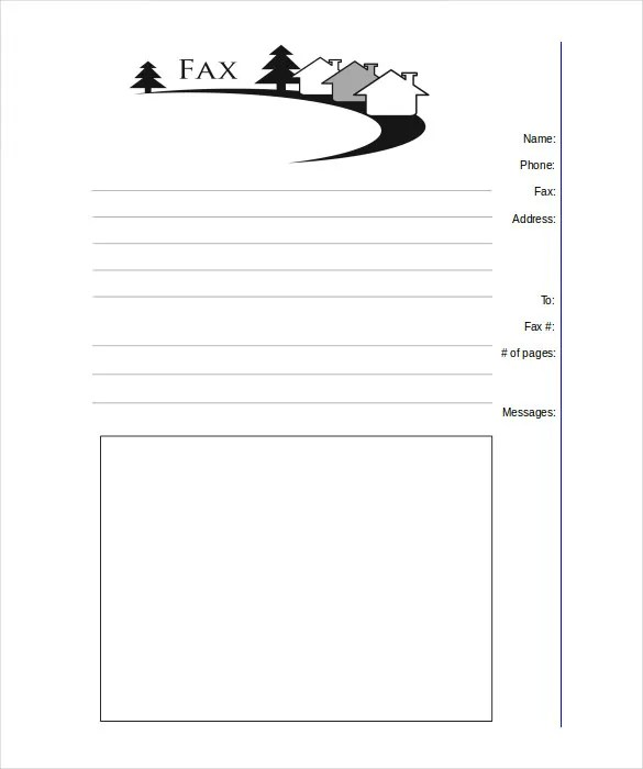 12+ Printable Fax Cover Sheet Templates \u2013 Free Sample, Example - printable fax cover page