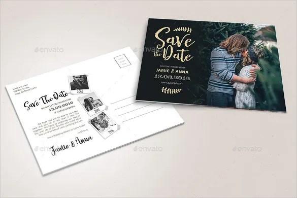 Save The Date Postcard Template \u2013 25+ Free PSD, Vector EPS, AI