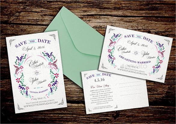 Save The Date Postcard Template \u2013 25+ Free PSD, Vector EPS, AI - save date postcard