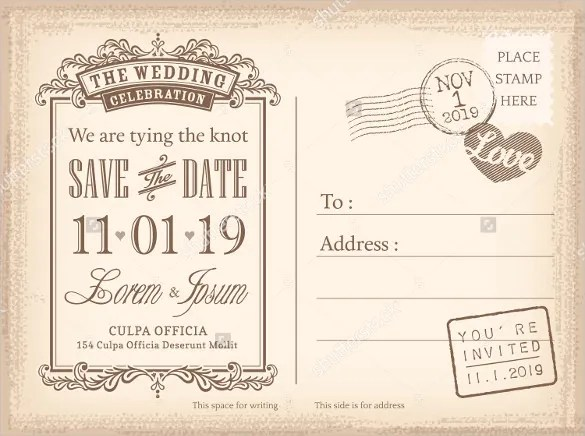 free save the date postcard templates - Kendicharlasmotivacionales