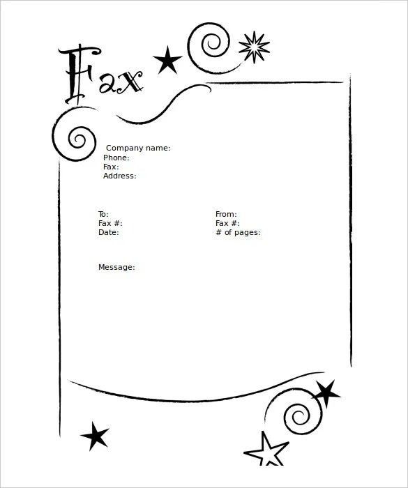 10+ Blank Fax Cover Sheet Templates \u2013 Free Sample, Example Format - Blank Fax Cover Sheet