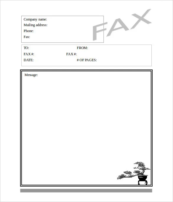 9+ Blank Fax Cover Sheet Templates - Free Sample, Example Format