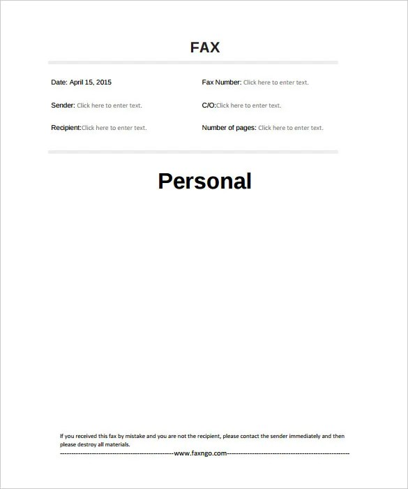 Sample Fax Cover Sheet Bunch Ideas Of Fax Cover Letter Doc Free Fax