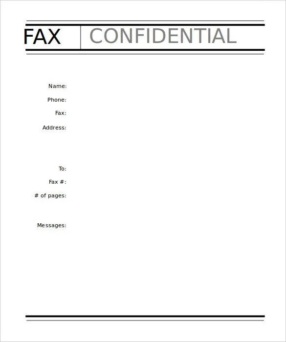 9+ Professional Fax Cover Sheet Templates - Free Sample, Example - fax cover sheet templates