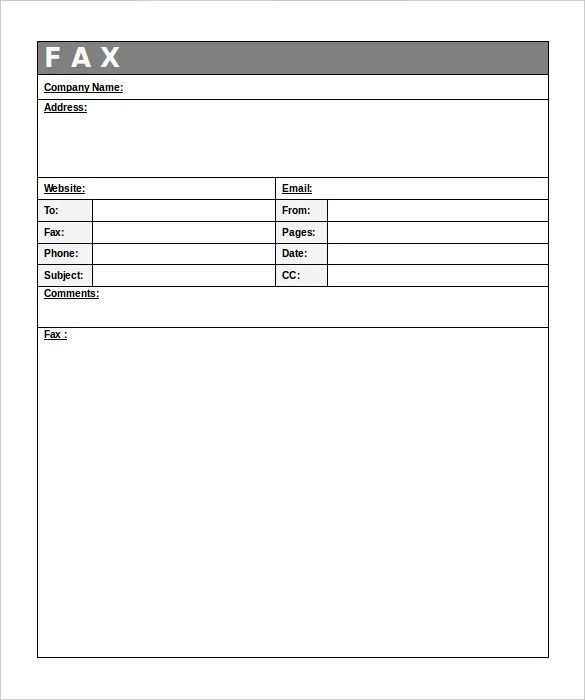 10+ Professional Fax Cover Sheet Templates \u2013 Free Sample, Example