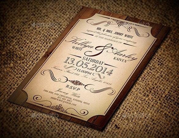 23+ Vintage Wedding Invitation- Free PSD Format Download Free