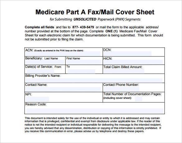 7+ Medical Fax Cover Sheet Templates - PDF, Word Free  Premium