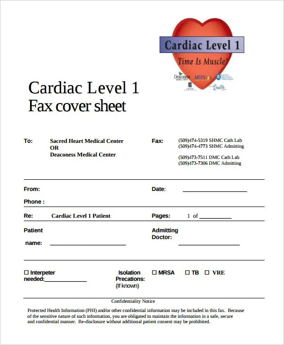 8+ Medical Fax Cover Sheet Templates \u2013 Free Sample, Example Format - sample medical fax cover sheet