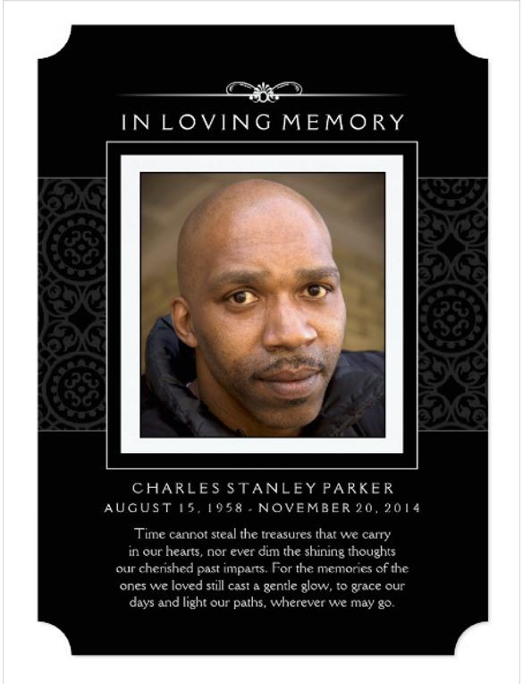 funeral invitation card template - Leonescapers - memorial card template