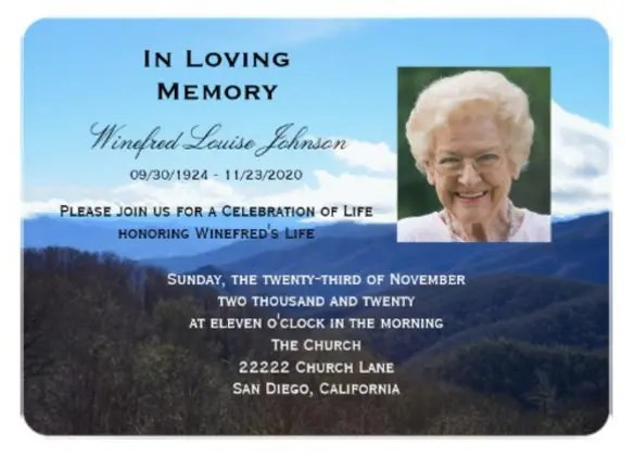 funeral announcement template - Ozilalmanoof - memorial service invitation wording