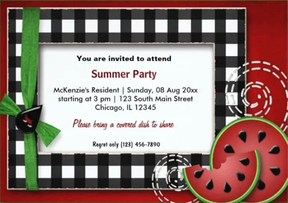 Picnic Invitation Template - 26+ Sample, Example, Format Download - company party invitation templates