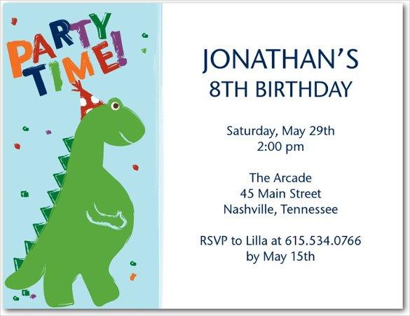 29+ Dinosaur Birthday Invitation Templates - PSD, AI, Vector EPS - birthday card invites