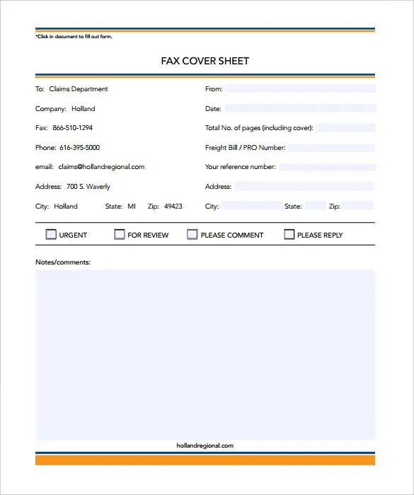 9+ Business Fax Cover Sheet Templates - Free Sample, Example Format
