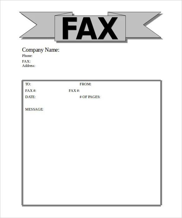 Fax Cover Sheet For Cv Free Printable Fax Cover Sheet Template Word