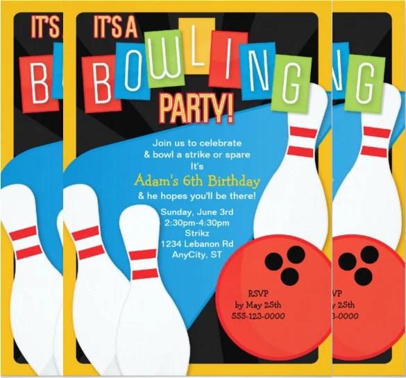 Free Bowling Party Flyers Invitation \u2013 orderecigsjuiceinfo