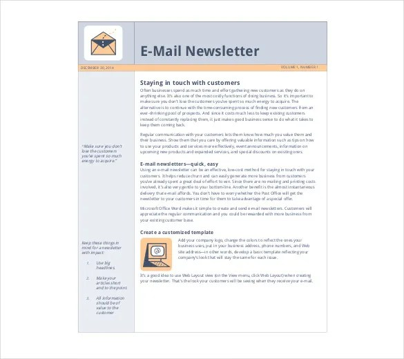 company newsletter pdf - Funfpandroid - company newsletter template free