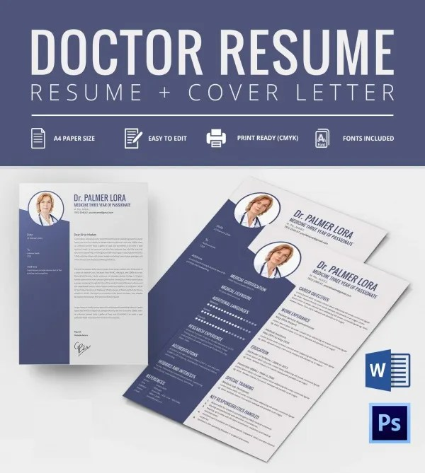Doctor Resume Templates \u2013 15+ Free Samples, Examples, Format - doctor sample resumes