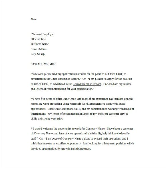 professional business letter template word