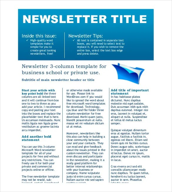 Business Newsletter Small Business Consulting Newsletter - company newsletter template free