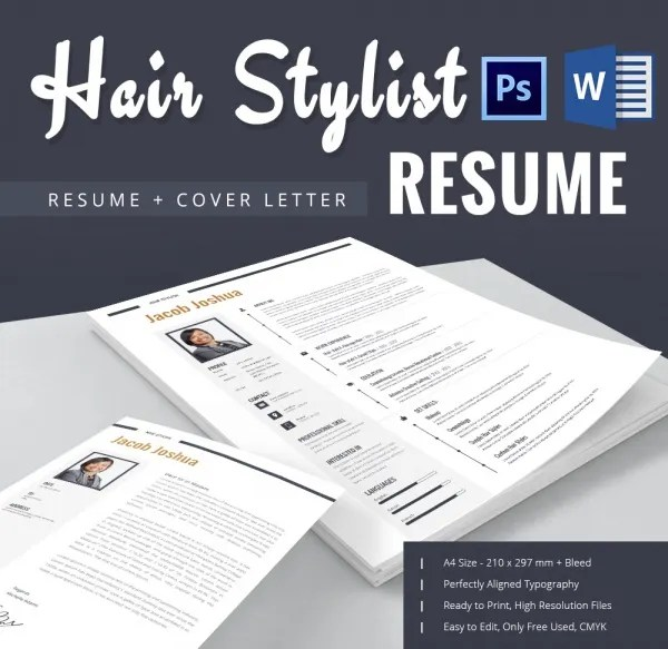 Hair Stylist Resume Template \u2013 9+ Free Samples, Examples, Format - hairdressing resume examples