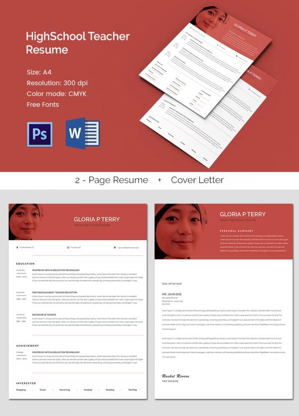 51+ Teacher Resume Templates u2013 Free Sample, Example Format - teacher resumes templates