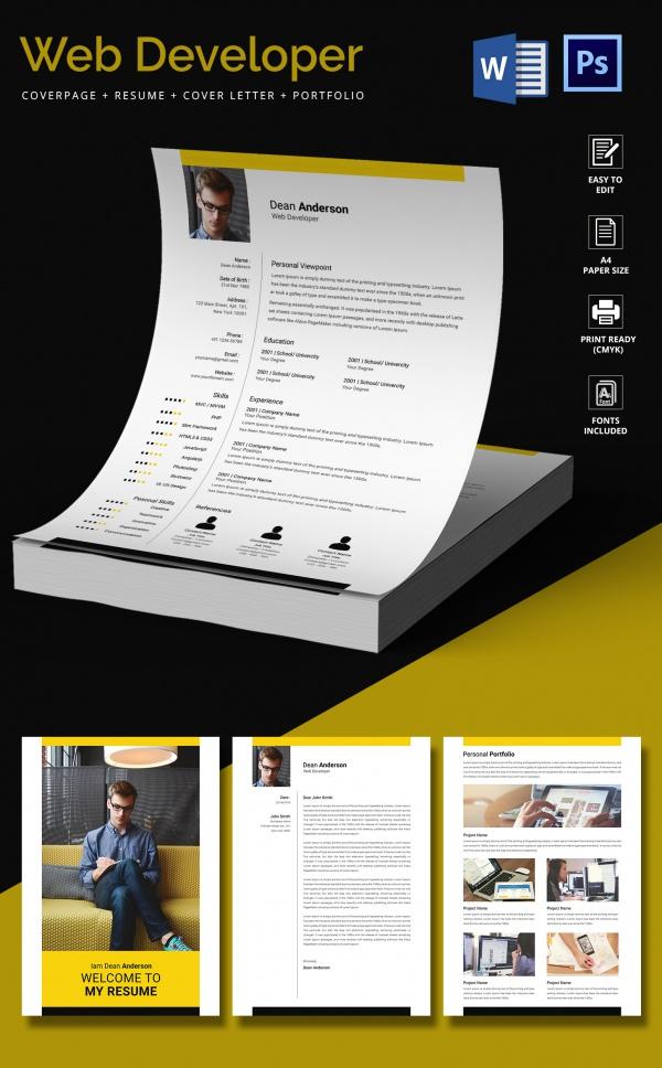 resume website web developer