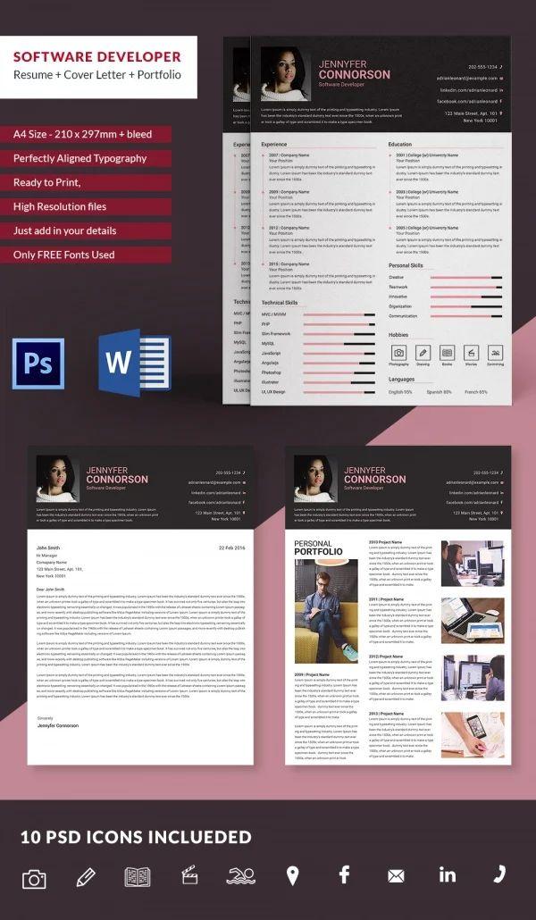 simple resume portfolio website template