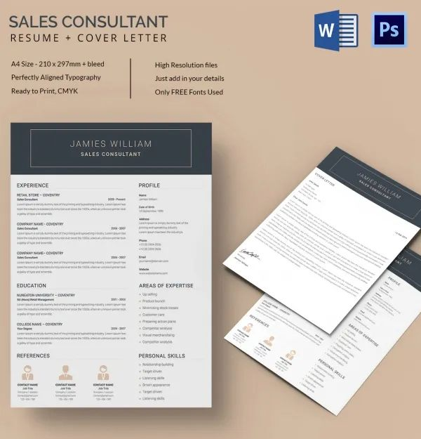 creative sales resume templates