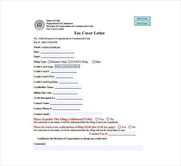 Fax Cover Letter Template \u2013 9+ Free Word, PDF Documents Download - fax cover letters