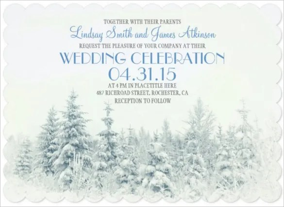 winter invitation templates - Goalgoodwinmetals
