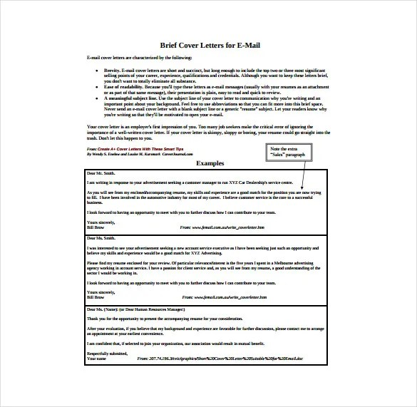 51+ Simple Cover Letter Templates - PDF, DOC Free  Premium Templates
