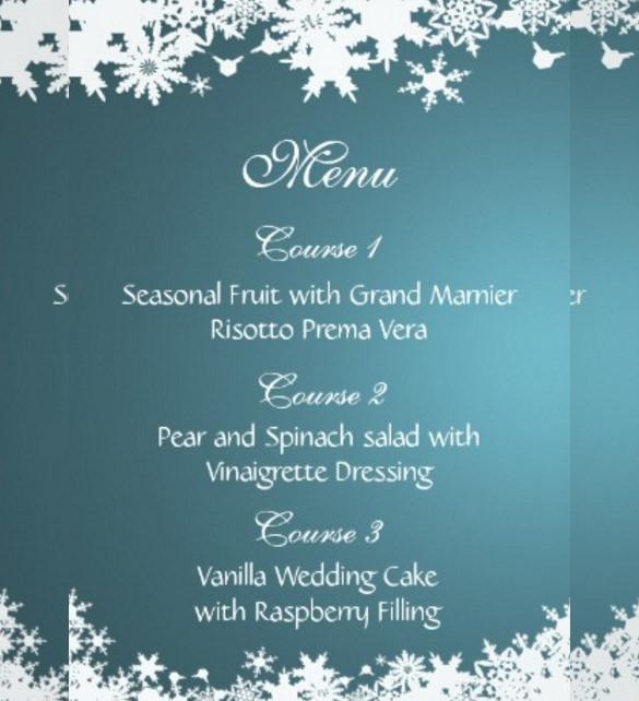 14+ Winter Wedding Invitation Templates \u2013 Sample, Example Format