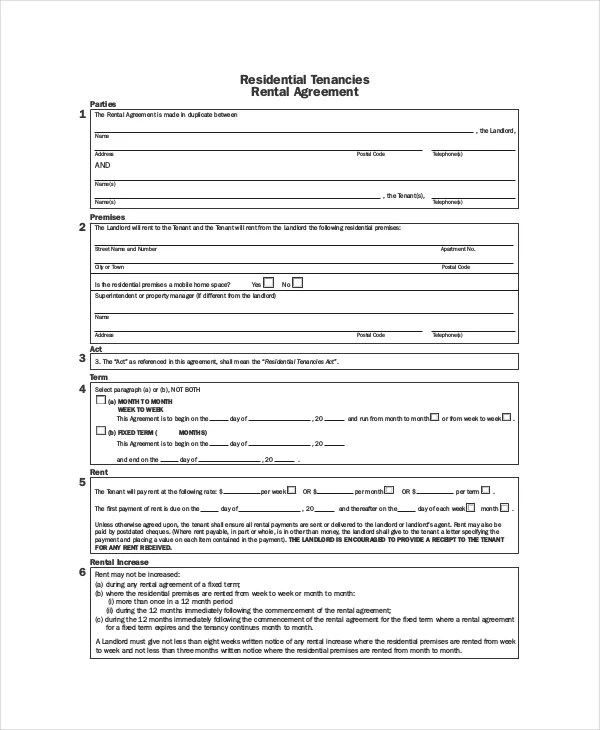 Rental Agreement Template - 9+ Free Word, PDF Documents Download - house rental contract