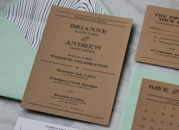 Country Wedding Invitation 15 Psd Indesign Formats