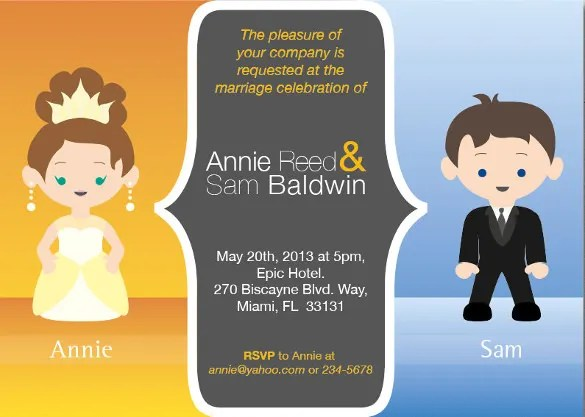 17 Funny Wedding Invitation Templates Free Sample