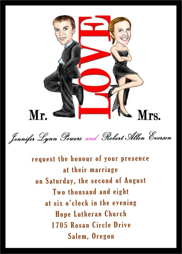 20+ Funny Wedding Invitation Templates \u2013 Free Sample, Example Format