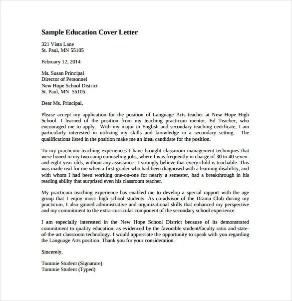 cover letter template teaching position - Deanroutechoice - teacher cover letter template