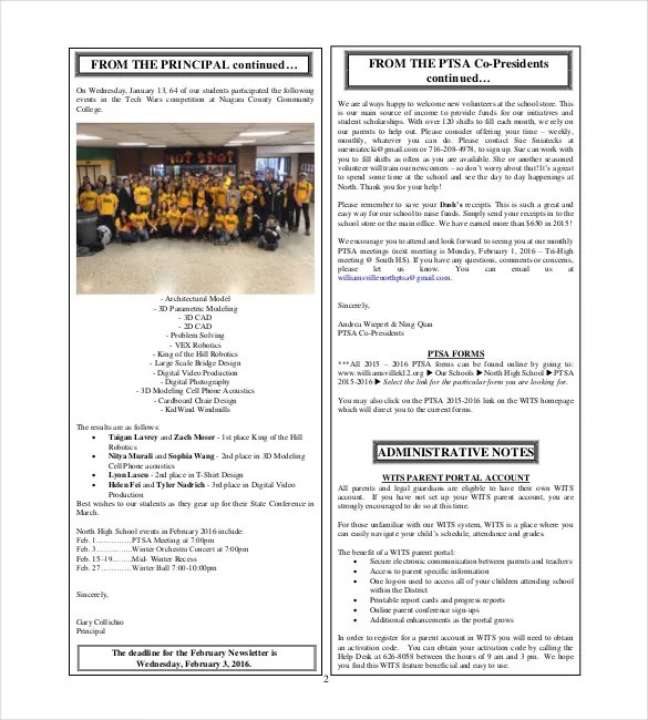 School Newsletter Template - 7+ Word, PDF, PSD Documents Download
