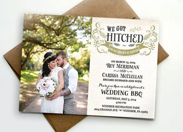 post wedding reception invitations templates