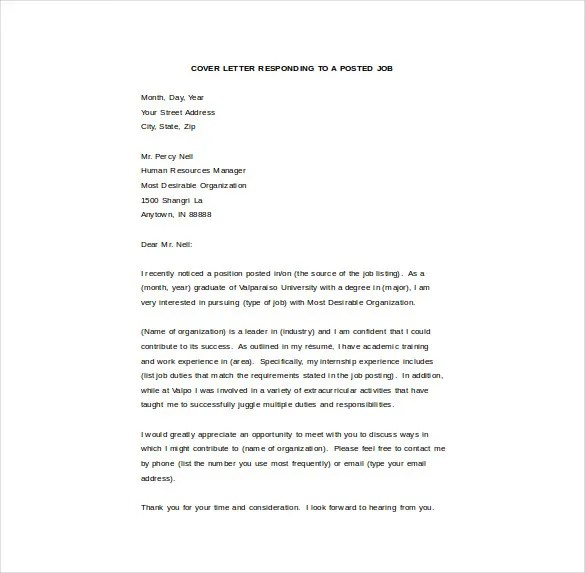 8+ Email Cover Letter Templates - Free Sample, Example, Format - Email Cover Letter Sample For Job Application