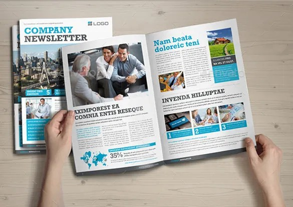 Company Newsletter Template \u2013 8+ PSD, PDF Format Download Free