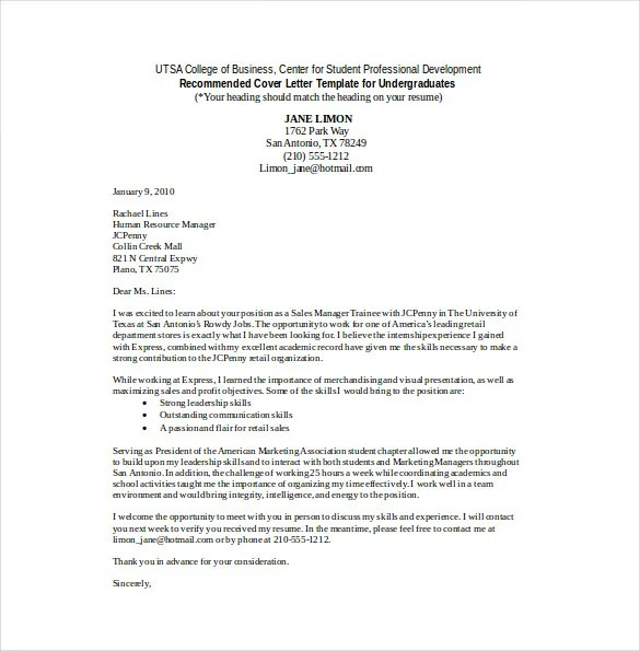 Sales Cover Letter Template \u2013 8+ Free Word, PDF Documents Download