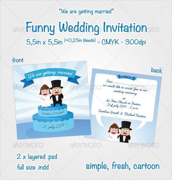 20+ Funny Wedding Invitation Templates \u2013 Free Sample, Example Format - marriage invitation letter format