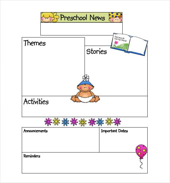 Preschool Newsletter Template- 9+ PSD, PDF Documents Download Free