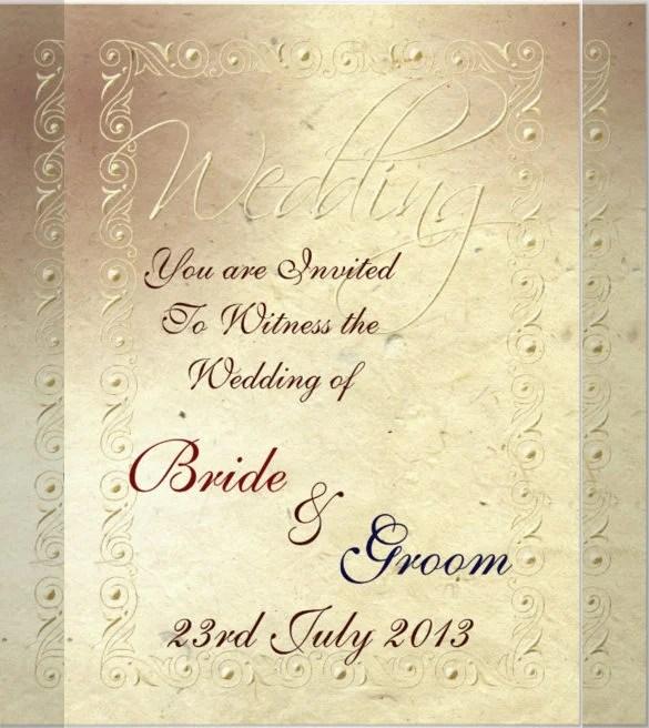 23+ Handmade Wedding Invitation Templates \u2013 Free Sample, Example - Best Of Handmade Formal Invitation Card