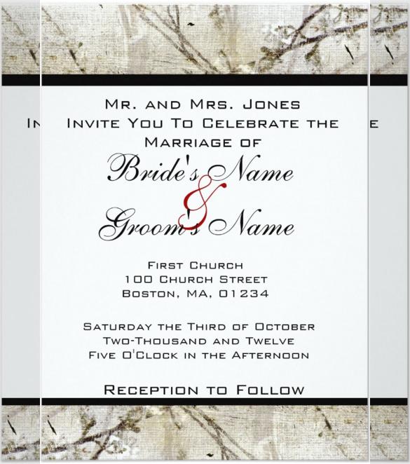 23+ Handmade Wedding Invitation Templates \u2013 Free Sample, Example