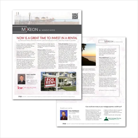 9+ Real Estate Newsletter Template - PSD, PDF Documents Download