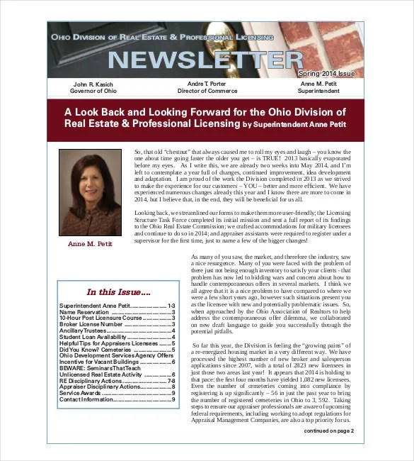 9+ Real Estate Newsletter Templates - Free Sample, Example, Format