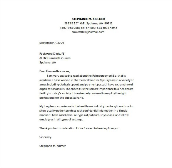 cover letter example word - Onwebioinnovate - Free Cover Letter Template Word